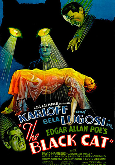 critica de satanas the black cat-bela-lugosi-boris-karloff-cartel-y-poster satanás the black cat