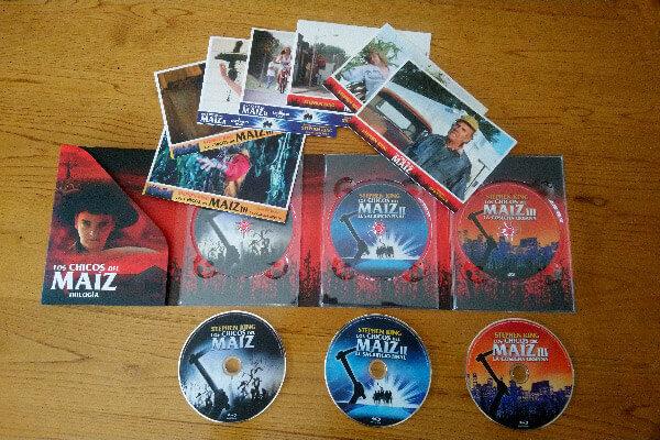 Postales del Pack Los Chicos del Maíz los chicos del maíz Los Chicos del Maíz en blu-ray pack los chicos del maiz postales